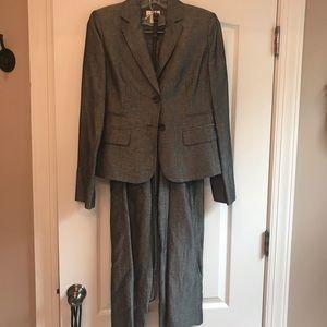 Ann Taylor Loft Charcoal Linen Pant Suit